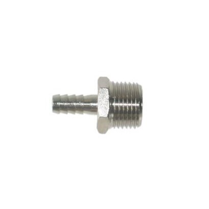 Hose barb nickel plated 9 mm x ½