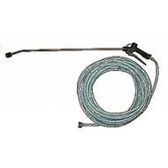 Zestaw natryskowy / wąż 20 m z lancą 90 cm ze stali nierdzewnej