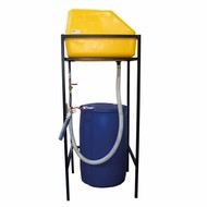 Quick fill tower for scrubbing machines
