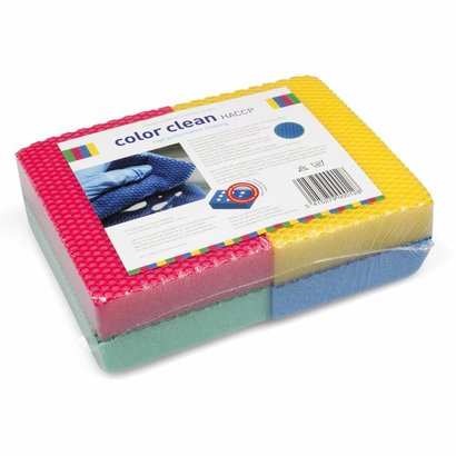 Pack of 4 x COLOR CLEAN HACCP 1 yellow/1 red/1 blue/1 green