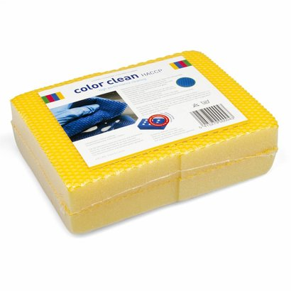 Zakje 4 x COLOR CLEAN HACCP spons geel