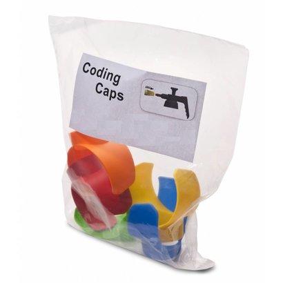 Set 5x color coding caps Spray-Matic 1,6 l and 1 l