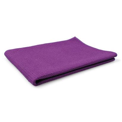 Gewafelde doek 60 x 90 cm violet