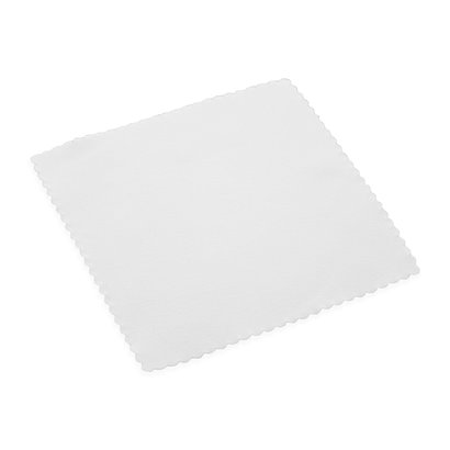 Pack of 10 x Microfibre cloth suede 12 x 12 cm white