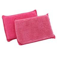 Zakje 10 x DUO spons roze 14 x 9 cm