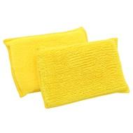 Zgrzewka 10 x żółtych gąbek z mikrofibry 14 x 9 cm