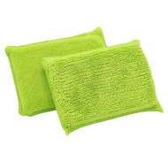 Beutel 10 x DUO-Schwamm grün 14 x 9 cm