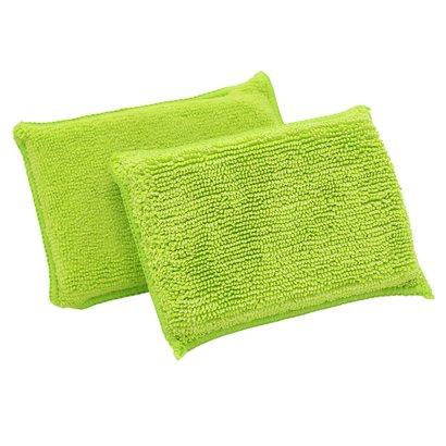 Zakje 10 x DUO spons groen 14 x 9 cm