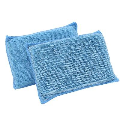 Zakje 10 x DUO spons blauw 14 x 9 cm