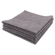 Pack of 5 x PU microfibre cloth 37 x 37 cm grey