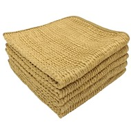 Pack 5 x WAVE cloth Gold 36 x 36 cm