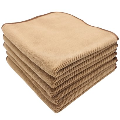 Pack 5 x CLASSIC Microfibre cloth bronze 40 x 40 cm