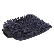 Washandschoen Microvezel ''Rasta'' zwart