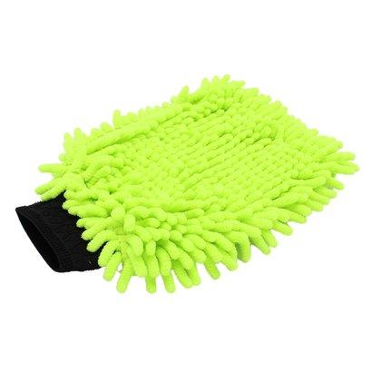 Washandschoen Microvezel ''Rasta'' groen