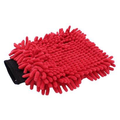 Washandschoen Microvezel ''Rasta'' rood