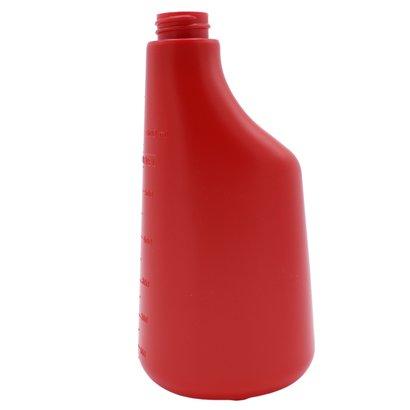 Fles 600 ml polyethyleen rood