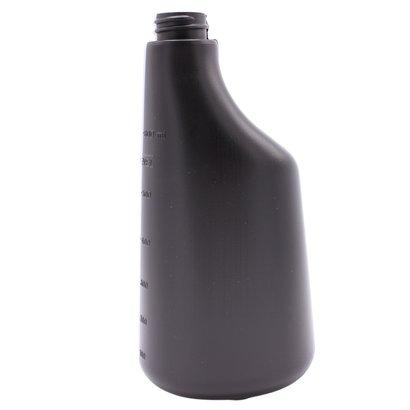 Fles 600 ml polyethyleen zwart