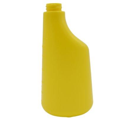 Fles 600 ml polyethyleen geel