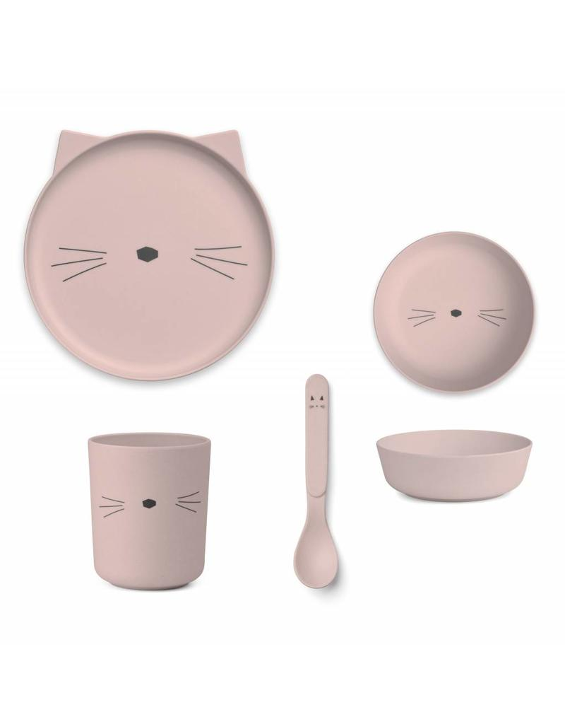 Liewood Liewood - Bamboo Set 'Cat Pink'