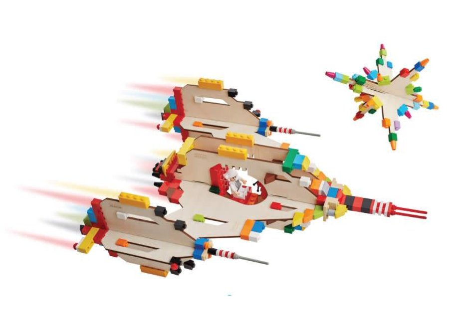 Brikkon 'Ruimteschip met ster'