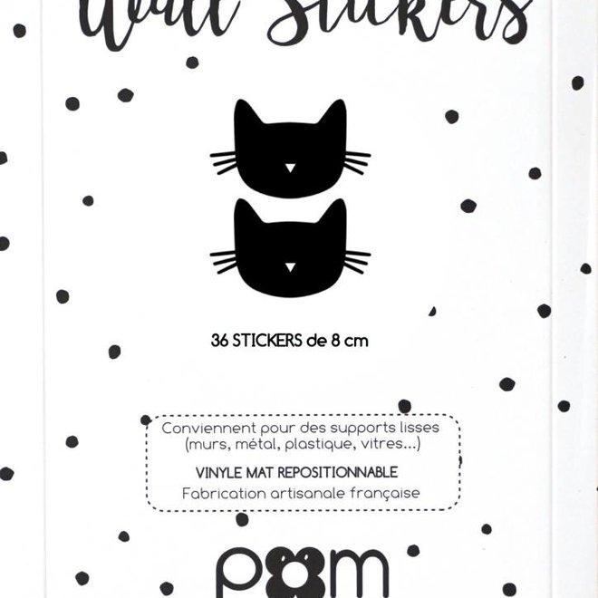 Pom Le Bonhomme Muursticker Kat