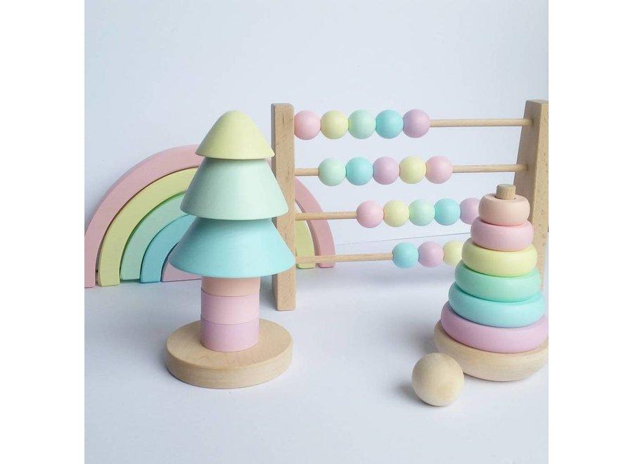 Ciaobambino - Houten telraam 'Pastel'
