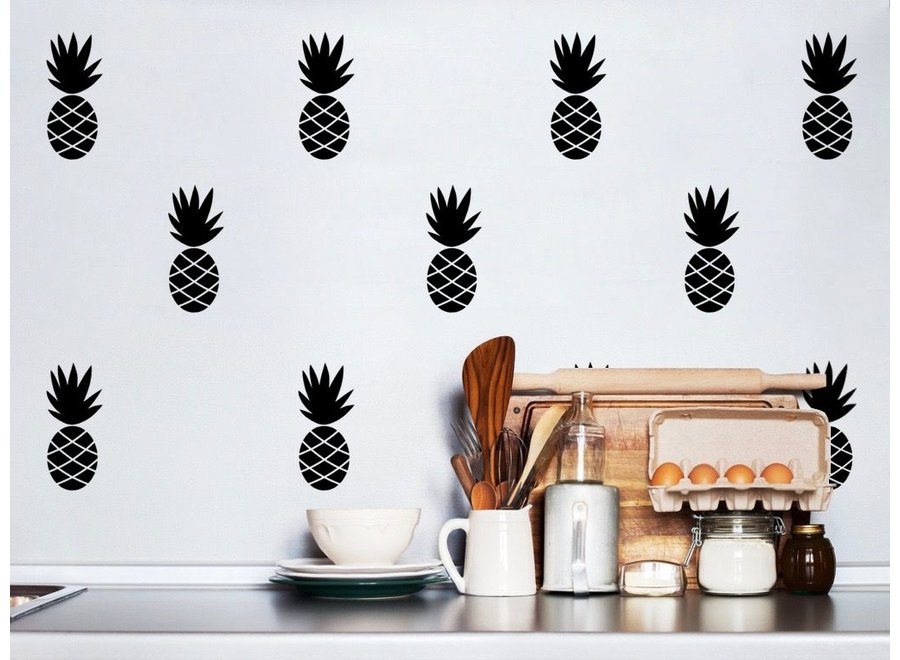 Pom Le Bonhomme - Muursticker 'Ananas Zwart'