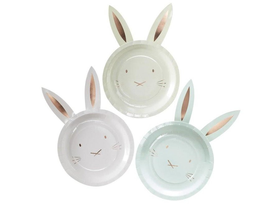 Bunny plate with ears