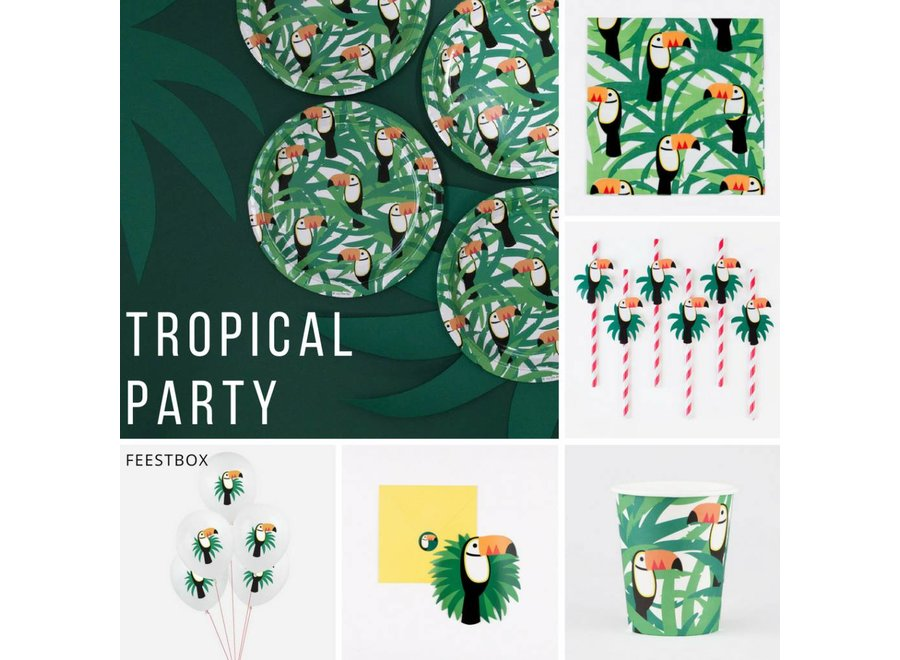 Feestbox Tropical Party - Toekan