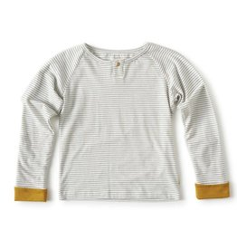 Little Label Little Label - T-shirt Stripes & Oker