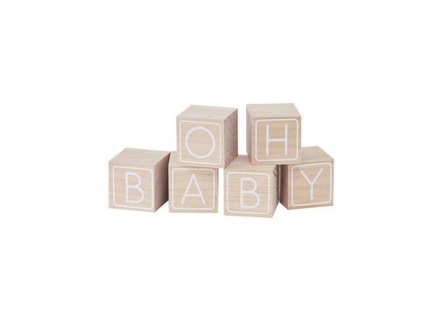 VERKOCHT Blokken 'Oh Baby' - Dooplijst