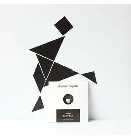 Groovy Magnets Groovy Magnets - Magneetset 'Tangram Black'