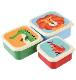 Snackdoosjes - Set van 3 'Colourfull'