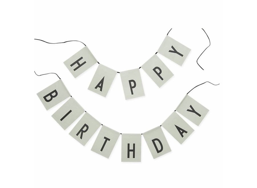 Design Letters - Happy Birthday Flag Mint