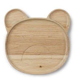 Liewood Liewood - Wooden Plate 'Mr Bear'