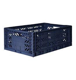 Eef Lillemor Lillemør - Folding Crate 'Navy' - Maxi