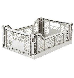 Eef Lillemor Lillemor - Folding Crate 'Light Grey' - Medium