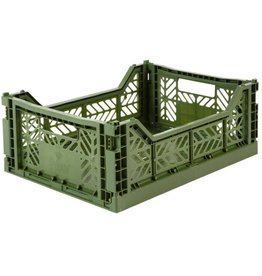 Eef Lillemor Lillemor - Folding Crate 'Kaki' - Medium