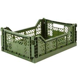 Lillemor - Folding Crate 'Kaki' - Medium