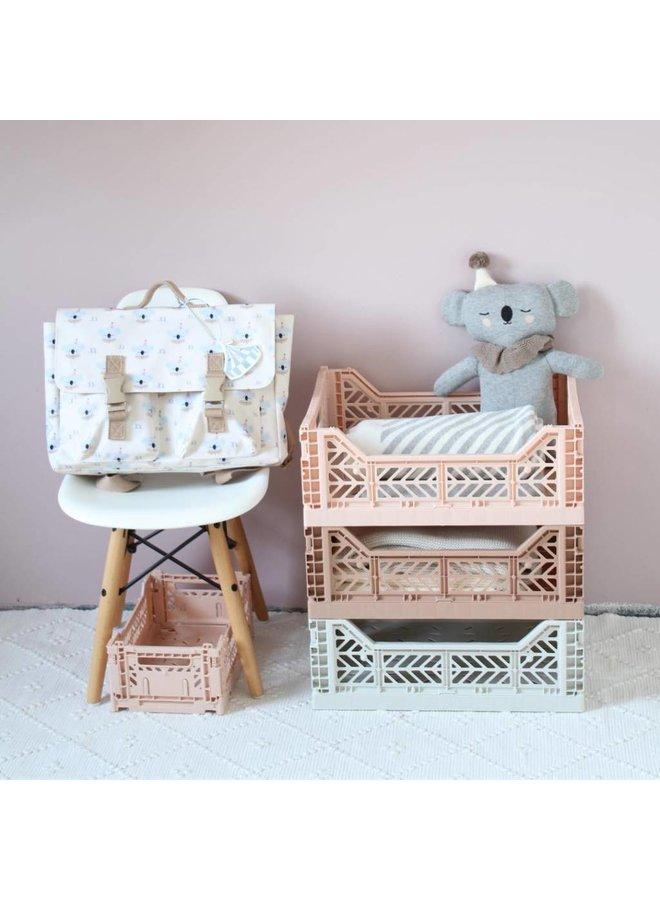 Lillemor - Folding Crate 'Light Grey' - Medium