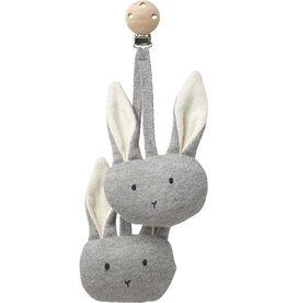 Liewood Liewood - Rosa Pram Toy Rabbit Grey
