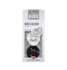 BIBS BIBS - Fopspeen Blister Black & White T2