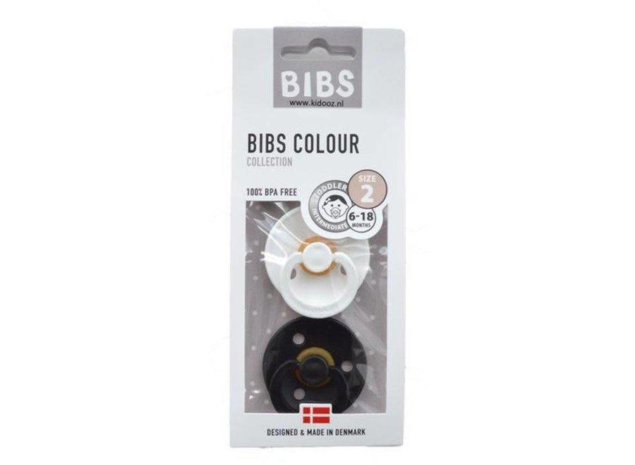 BIBS - Fopspeen Blister Black & White T2