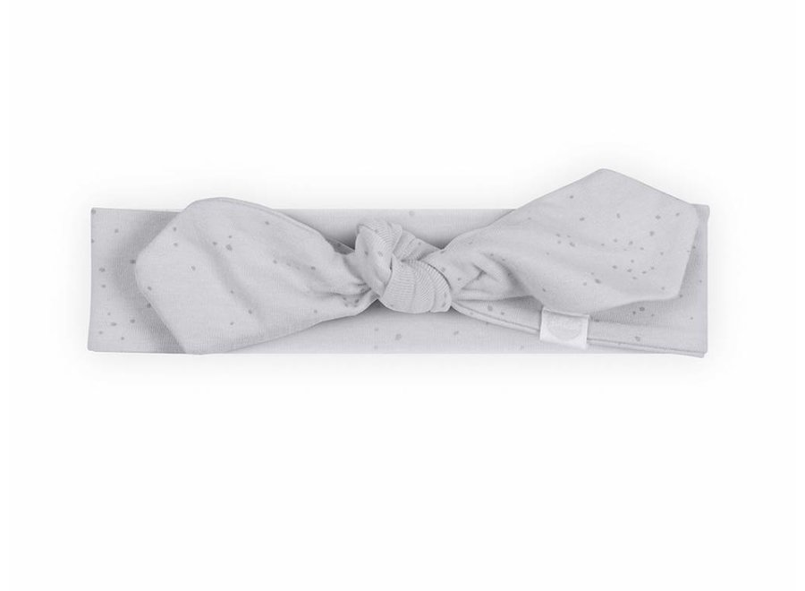 Haarband Mini dots soft Grey