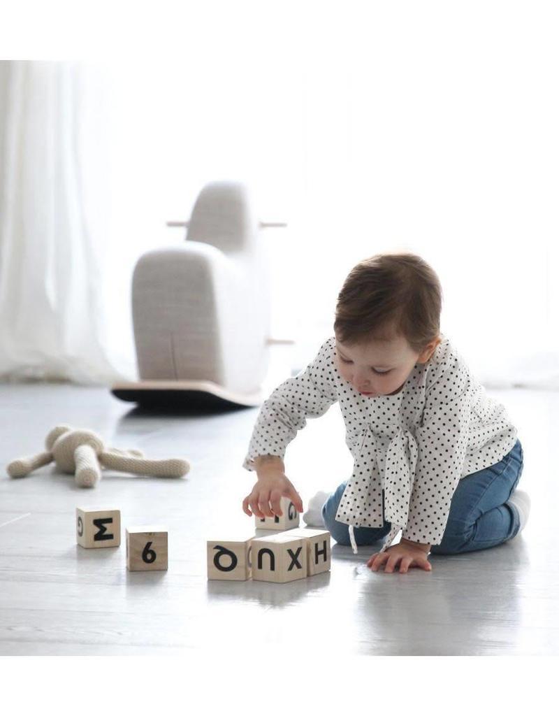 Ooh Noo Geboortelijst - Alfabetblokken 'Black'