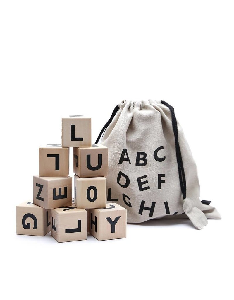 Ooh Noo Ooh Noo - Alfabetblokken 'Black'