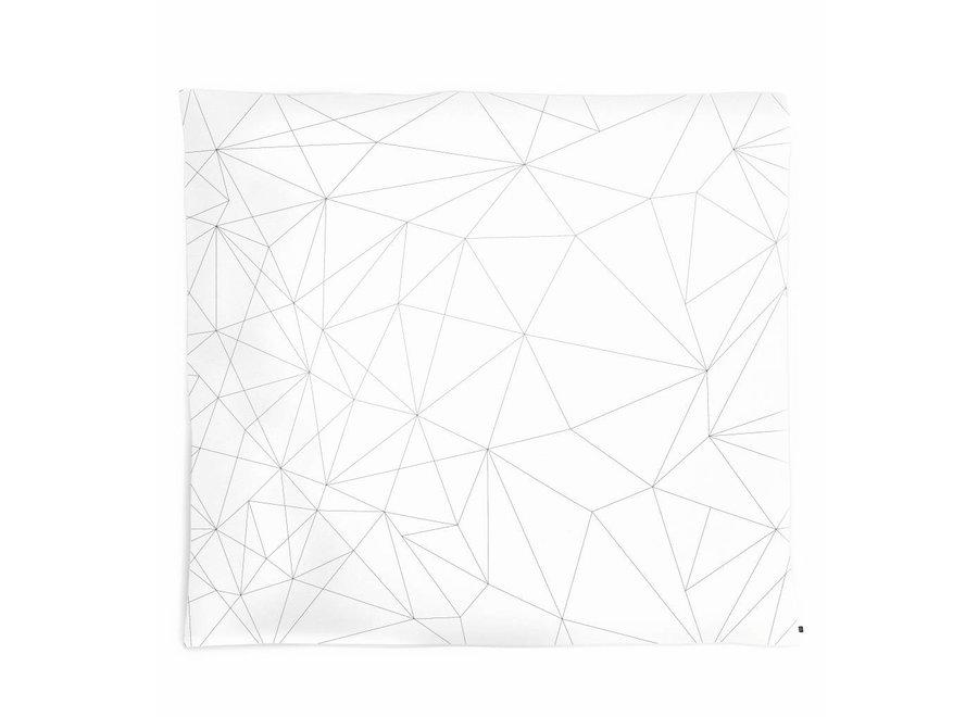 Geboortelijst - Kussenovertrek 'Geometric web'