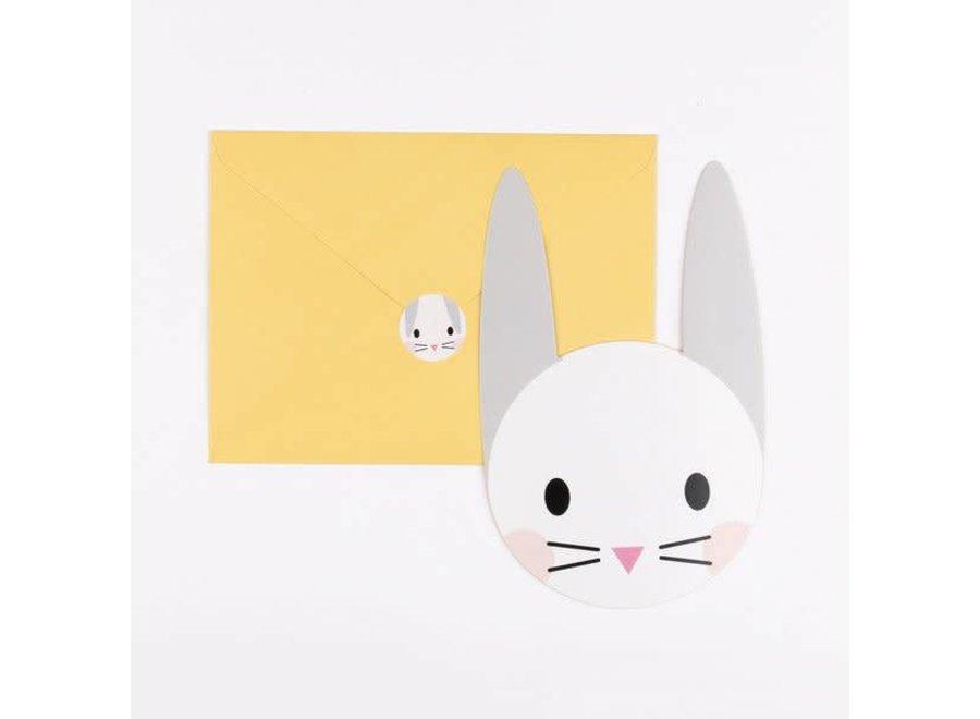 My Little Day - Uitnodigingskaartje 'Mini Rabbit'