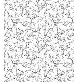 Lilipinso Wall Paper 'Even more bunnies'