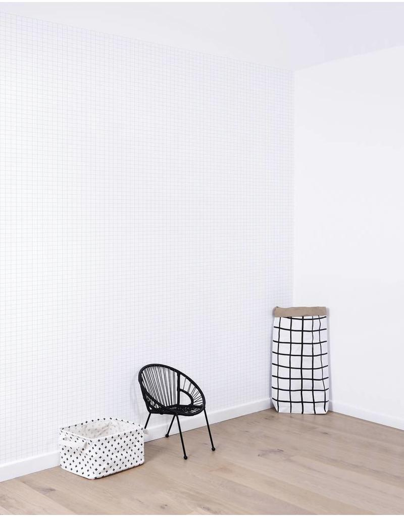 Lilipinso Wall Paper 'Black & white' - Small Tiles / Grid